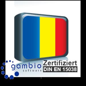 Sprachpaket Rumänisch Gambio GX3 (Neueste Version auf Anfrage)