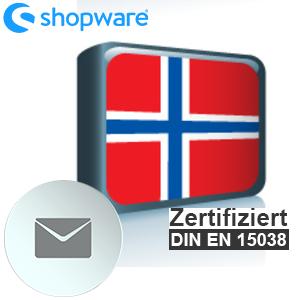 E-Mail Vorlage Norwegisch Shopware 5.x
