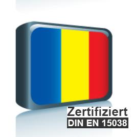 Sprachpaket Rumänisch 6.x - ISO 17100 zertifiziert