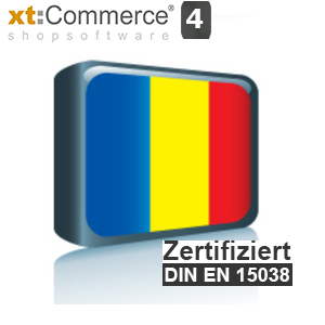 Sprachpaket Rumänisch xt:Commerce 4 (Neueste Version auf Anfrage)