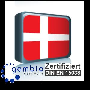 Sprachpaket Dänisch Gambio GX3 (Neueste Version auf Anfrage)