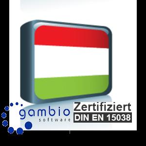 Sprachpaket Ungarisch Gambio GX3 (Neueste Version auf Anfrage)