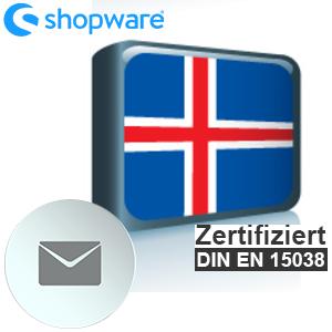 E-Mail Vorlage Isländisch Shopware 5.x