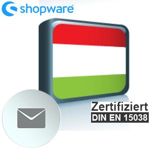 E-Mail Vorlage Ungarisch Shopware 5.x