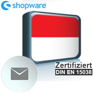 E-Mail Vorlage Indonesisch Shopware 5.x