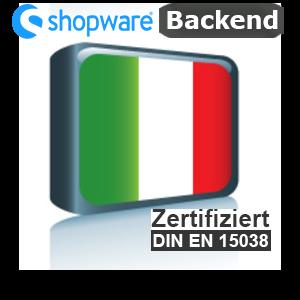 Sprachpaket Italienisch Shopware 5.x Backend
