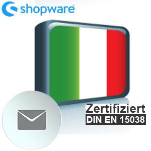 E-Mail Vorlage Italienisch Shopware 5.x