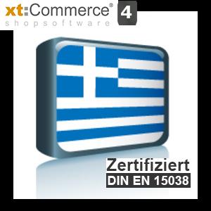 Sprachpaket Griechisch xt:Commerce 4 (Neueste Version auf Anfrage)