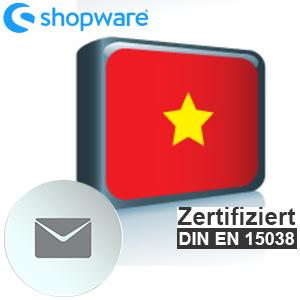 E-Mail Vorlage Vietnamesisch Shopware 5.x