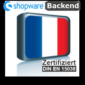 Sprachpaket Französisch Shopware 5.x Backend