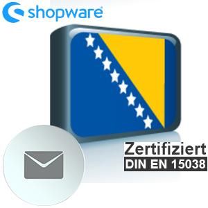 E-Mail Vorlage Bosnisch Shopware 5.x
