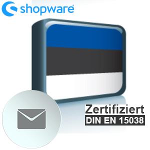E-Mail Vorlage Estnisch Shopware 5.x