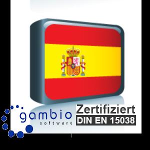 Sprachpaket Spanisch Gambio GX3