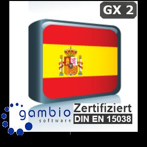 Sprachpaket Spanisch Gambio GX2