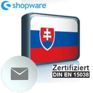 E-Mail Vorlage Slowakisch Shopware 5.x