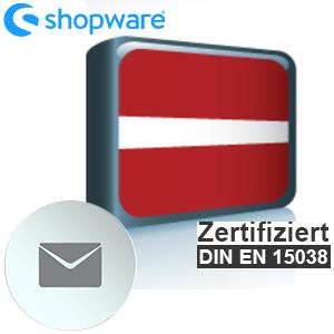 E-Mail Vorlage Lettisch Shopware 5.x