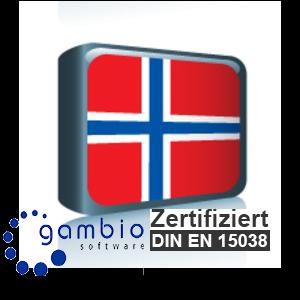 Sprachpaket Norwegisch Gambio GX3 (Neueste Version auf Anfrage)