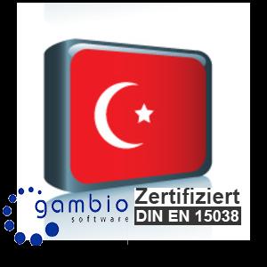 Sprachpaket Türkisch Gambio GX3 (Neueste Version auf Anfrage)