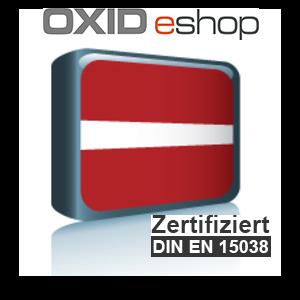Sprachpaket Lettisch OXID 4.8 (CE) 5.3 (PE, EE)